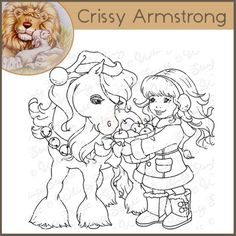 Whimsy Crissy Armstrong Rubber Stamp - Christmas Pony