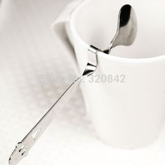 Creative Cute Smile Face Curved Tea Coffee Drink Spoons Lovely Stainless Steel Spoon sliver color drinking Teaspoon