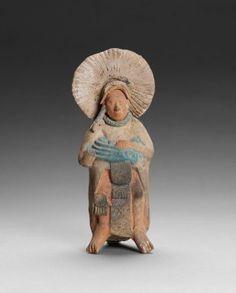 Jaina Island Male Effigy Whistle, 600-900 AD