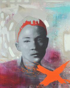 Jari Järnström Action  2014 81x65 cm  maalaus akryyli ja öljy kankaalle