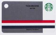 トム・ブラウンデザインのスターバックスカードが登場