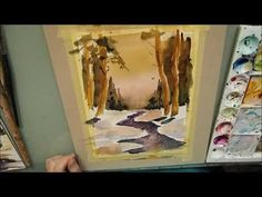 Die Sprache der Pinsel - Aquarell - Winterlandschaft - Teil 2 - YouTube Youtube, Painting, Art, Watercolor Painting, Winter Scenery, Brushes, Language, Art Background, Painting Art
