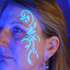 Tat It Up! Lela's Hair Salon - Neon Face Paint and Neon Glitter Tattoos