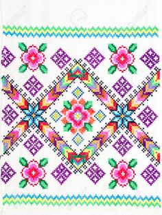embroidered good by cross stitch pattern ukrainian ethnic ornament Stock PhotoFind Embroidered Good By Crossstitch Pattern Ukrainian stock images and royalty free photos in HD. Cross Stitch Heart, Cross Stitch Borders, Cross Stitching, Cross Stitch Embroidery, Cross Stitch Patterns, Crochet Bedspread Pattern, Tapestry Crochet Patterns, Pinterest Cross Stitch, Palestinian Embroidery