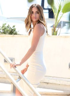 - friday - Ana de Armas attends day 6 of the Annual Cannes Film Festival on May 16 2016 in Cannes Hollywood Celebrities, Hollywood Actresses, Stunning Women, Gal Gadot, Beautiful Actresses, Pretty Woman, Beautiful People, Girl Fashion, White Dress