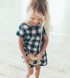 Artisan Capsule: Check Dress by Zara Kids Fashion Kids, Little Girl Fashion, Zara Kids, Baby Kind, My Baby Girl, Baby Girl Dresses, Baby Dress, Check Dress, Kid Styles