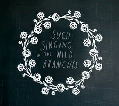I think this decal would look really lovely on a chalkboard-painted wall, with the middle left empty for a chalked-on quote.