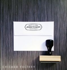 Custom Return Stamp, Personalized Address Stamp with Names in Script Typeface – Self Inking or Woode Etsy Furniture, Custom Return Address Stamp, Wood Stamp, Custom Stamps, Crafty Projects, Just Married, Etsy Jewelry, Couple Gifts, Chicago