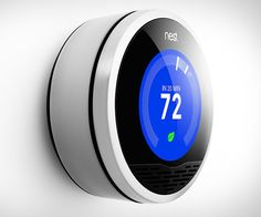 Nest - The Learning Thermostat | DudeIWantThat.com I so want one of these!!