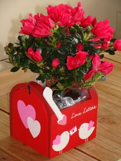 in your mailbox! Valentines Flowers, Valentines Day, Mailbox, Red Roses, Christmas Ornaments, Holiday Decor, Home Decor, Valantine Day, Xmas Ornaments