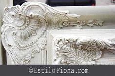 stilo Shabby Chic con inspiración para restaurar marcos antiguos. Reciclaje de marcos para cuadros a espejos.
