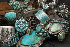 turquoise-yikes looks like my jewelry case :)