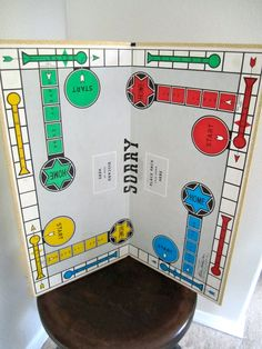 Sorry Game Board. Fond memories of playing with my grandparents and then my sons.