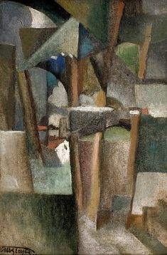 Albert Gleizes, Les Arbres, 1910, oil on canvas, 41 x 27 cm.