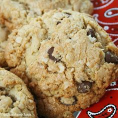 Feeding a crowd for the big game Sunday? Cowboy Cookies - makes up to 10 dozen cookies! From Gooseberry Patch Recipes