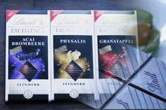 LINDT-EXCELLENCE Lindt Excellence Physalis, Lindt Excellence Granatapfel, Lindt Excellence Acai Brombeere
