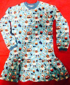 """Mädchenkleid Ottobre 4/2013 """"Circus Horse"""" Gr. 110 mit Jersey von Lillestoff. Für Milchen"""