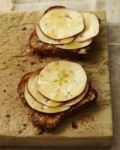 Apple, Peanut Butter, and Honey Sandwich