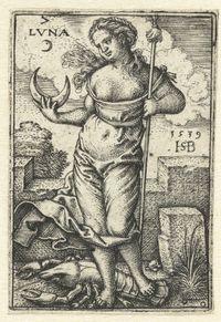 rijksmuseum: Diana (Luna) met sterrenbeeld kreeft