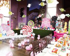 Willy Wonka Birthday party--perhaps a toned-down version? I'm not a millionaire. Nor do I have the mass amounts of free time this person has (must be nice...)