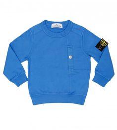 Stone Island Royal Blue Cotton Sweatshirt from www.profilefashion.com