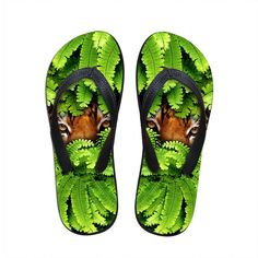 FORUDESIGNS Animal Printing Slippers for Men,2017 Summer Men`s Beach Slippers Mens Designer Flipflops, Men 3D Rubber Slippers