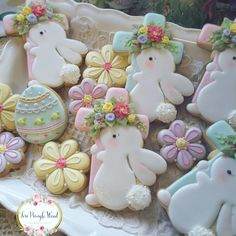 Easter cookies,  eggs, bunny,  carrots,  decorated cookies,