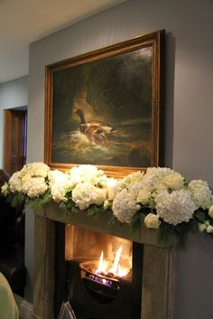 Beautiful fireplace arrangement