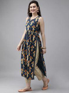 Silk Kurti Designs, Simple Kurta Designs, Kurta Designs Women, Kurti Designs Party Wear, Printed Kurti Designs, Salwar Designs, Stylish Kurtis Design, Stylish Dress Designs, Designs For Dresses
