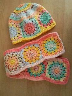granny square scarf - Google Search
