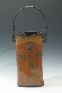 Hanging wall vase by Mud Pie Arts Pottery