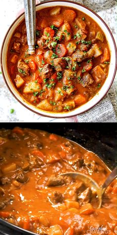 This CROCKPOT BEEF STEW is easy, hearty, comforting and SO good you wont be able to stop at one bowl! Perfect stress free, make ahead meal and great for crowds! Cabbage Soup Recipes, Easy Soup Recipes, Beef Recipes, Dinner Recipes, Lasagna Recipes, Lasagna Soup, Quinoa Chili, Pressure Cooker Cabbage, Easy Beef Chili Recipe