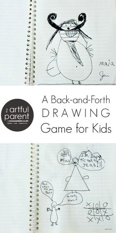 A back-and-forth drawing game for kids or kids and adults that allows each person to build off of the previous persons drawings. Interactive and fun!