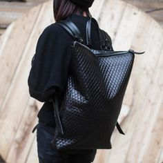 Asya Malbershtein Black Block Urban Backpack in Black | Lyst