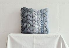 Grey plait pillowcase by taftyli