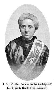 Le Droit Humain Vice President Amelie André Gedalge 33° (1923).