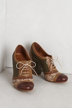 Lace-Cut Oxfords #anthropologie