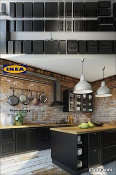 If you are looking for Industrial Kitchen Decor, You come to the right place. Here are the Industrial Kitchen Decor. This post about Industrial Kitchen Decor was . Industrial Style Kitchen, Loft Kitchen, Kitchen Interior, New Kitchen, Kitchen Dining, Kitchen Decor, Decorating Kitchen, Kitchen Walls, Kitchen Ideas