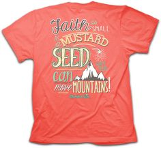 Faith as Small as a Mustard Seed Cherished Girl by Kerusso Christian T-Shirt - Free U.S. Shipping
