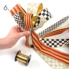MacKenzie-Childs - Photo Gallery - how to make a beatiful bow for a package