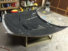making a carbon fiber fibre hood fenders for mustang - promoted by the fab forums Fiber Fibre, Metal Shaping, Welding And Fabrication, Car Restoration, Glass Molds, Nikon D3200, Diy Molding, Love Car, Mold Making