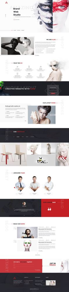 ALAB is a creative & unique PSD template for #Creative Agency, photo & design studio, web-development company or even for a #freelancer.  The #PSD template comes with 17 psd files.