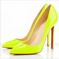 7a804b34f Black Thin Heel Pointed Women's Pumps High Heels Red Bottom Vintage Sexy  Shoes for Women