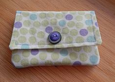 Small Fabric Wallet  Credit Card Wallet  by QuiltedbyMarilee