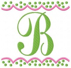 Dainty Dots Monogram Machine Embroidery Designs Set. $16.50, via Etsy.