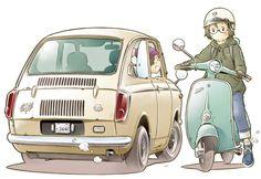 Robot Manga, Anime Manga, Concept Draw, Bike Illustration, Automobile, Transporter, Car Drawings, Car Sketch, Cool Sketches