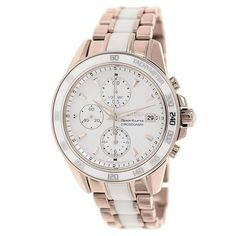 0d39f809dc1 Sportura Chronograph Dual Tone Bracelet Mother of Pearl Dial Ladies Watch