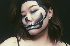 GLITTER HALF SKULL MAKEUP TUTORIAL   Instagram : gabriellegandhi Youtube : Gabrielle Gandhi