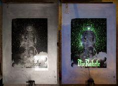 Die Rakete / Handprinted Silkscreen Poster by tind , via Behance