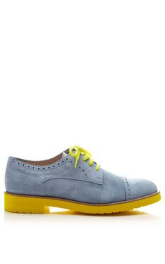 Contrast Sole Suede Brogues by Pertini Now Available on Moda Operandi